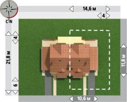 Архитектурный проект классического двухэтажного таунхауса