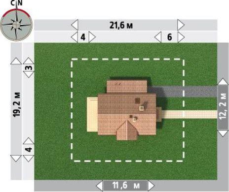 Проект классического дома 12 на 12