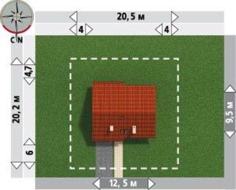 Привлекательный проект коттеджа более 200 m² с мансардой и гаражом на 1 машину