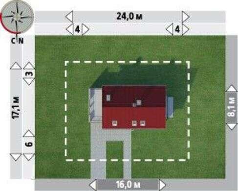 Великолепный проект загородного коттеджа с просторной террасой над гаражом