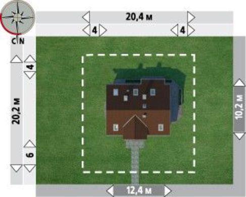 Проект коттеджа с 7 спальнями