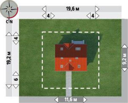 Загородный коттедж с мансардой 12м на 9м
