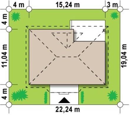 Интересный коттедж с оранжереей и террасой
