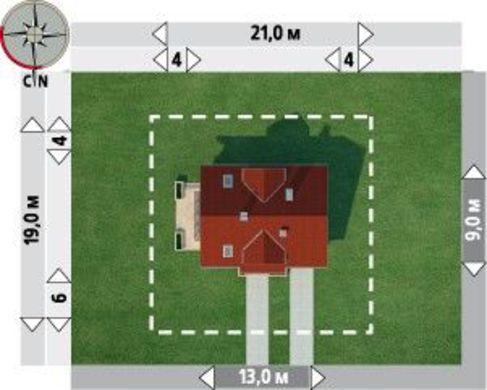 Проект для строительства уютного мансардного коттеджа с пристроенным гаражом