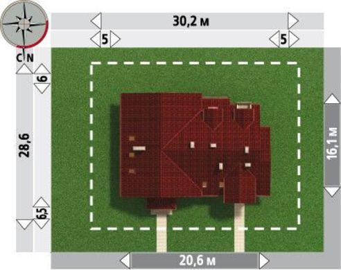 Планировка большого коттеджа на 390 кв.м для проживания двух семей