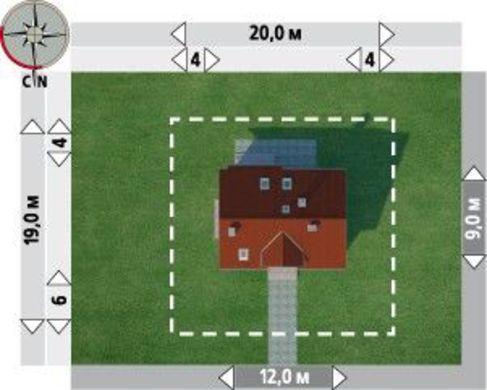 Загородный коттедж прямоугольной формы 9 на 12