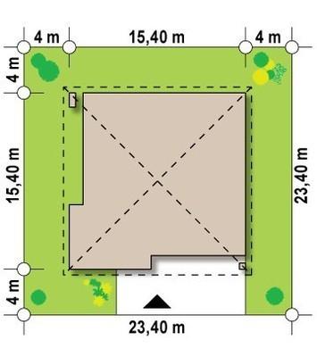 Просторный коттедж с четырехскатной кровлей и двумя гаражами