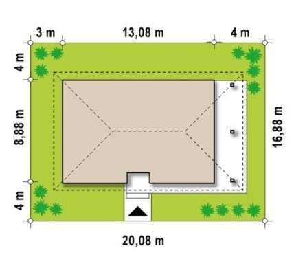 Проект мансардного коттеджа с четырьмя спальнями