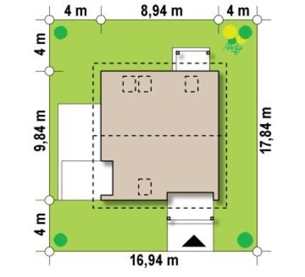 Загородный коттедж с тремя спальнями на мансардном этаже