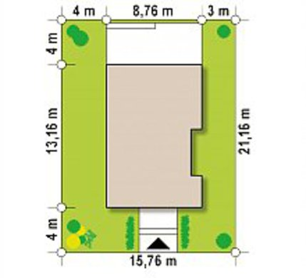 Аккуратный проект компактного одноэтажного коттеджа