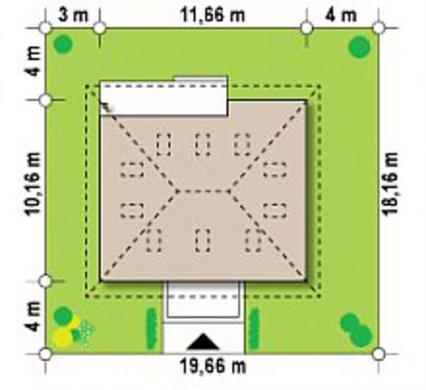Классический проект загородного коттеджа 10 на 12
