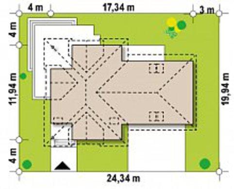 Проект красивого просторного дома с мансардой