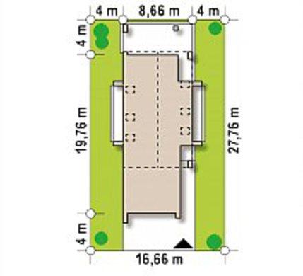 Проект модернового современного коттеджа для узкого участка