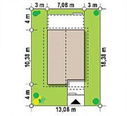 Интересный проект небольшого загородного коттеджа