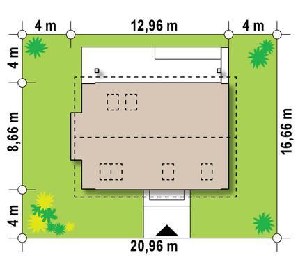 Проект небольшого привлекательного коттеджа для узкого участка