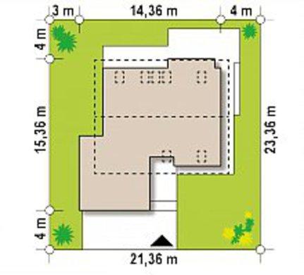 Проект двухэтажного дома площадью более 200 m²