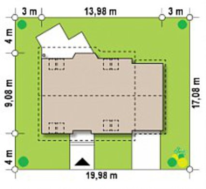 Проект двухэтажного загородного коттеджа 9 на 14