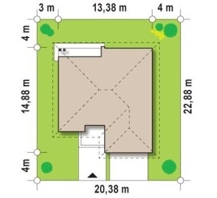 Большой одноэтажный дом с гаражом для двух авто