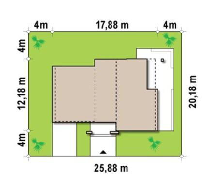 Проект просторной двухэтажной усадьбы в современном стиле с плоской крышей