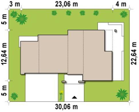 Современный двухэтажный коттедж с гаражом на две машины