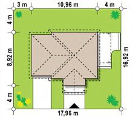 Проект дачного коттеджа площадью 68 кв. м для небольшой семьи