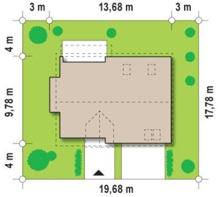 Современный уютный коттедж с одинарным гаражом