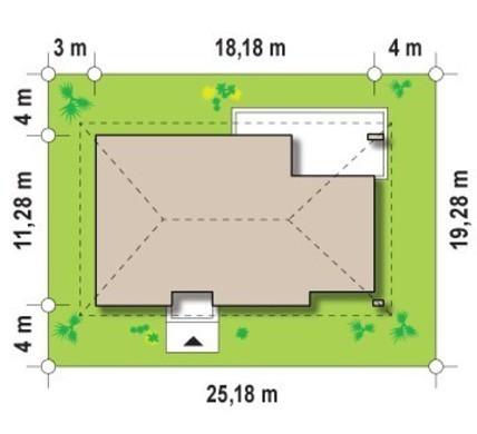 Элегантный проект коттеджа с тремя спальнями