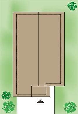 Проект изящного жилого дома для узкого участка с четырьмя спальнями