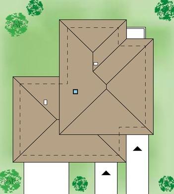 Современный жилой дом с отдельной спальней на первом этаже