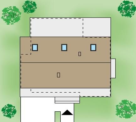 Одноэтажный коттедж с гаражом на две машины