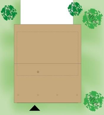 Загородный дом площадью 80 квадратов