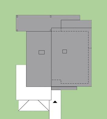 Двухэтажный дом с открытыми верандами и террасами