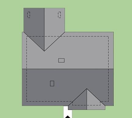 Современный жилой дом с крытой верандой