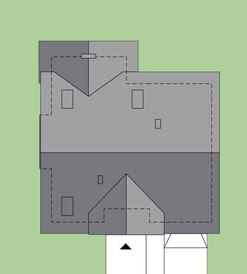 Двухэтажный жилой дом с великолепной гостиной
