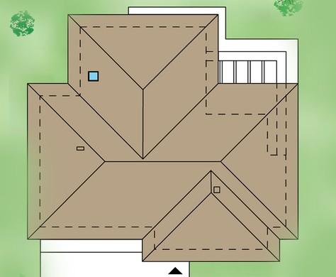 Одноэтажный жилой дом с гаражом на три автомобиля