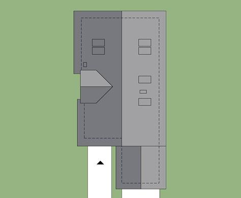 Фешенебельный дом в два этажа, декорированный светлым кирпичом