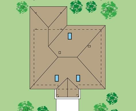 Одноэтажный дом в классическом стиле с чердаком