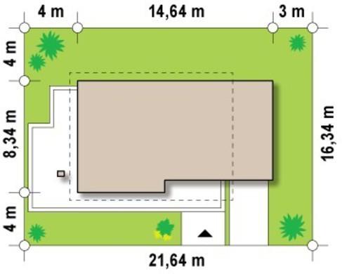 Коттедж с просторной террасой над гаражом