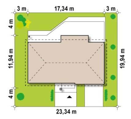 Симпатичный проект одноэтажного классического коттеджа