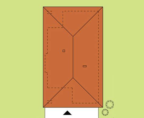 План просторного одноэтажного коттеджа общей площадью 253 кв. м