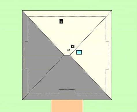 Небольшой коттедж под четырехскатной кровлей из металлочерепицы общей площадью 94 кв. м, жилой 56 кв. м