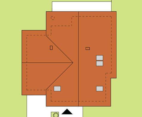 Проект коттежда с мансардным этажом и лоджией
