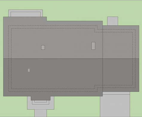 Проект одноэтажного дома с английским декором