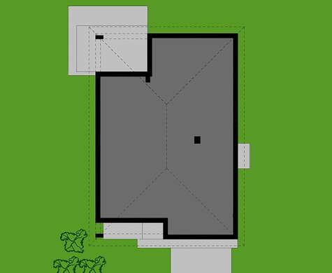 Проект просторного одноуровневого коттеджа с контрастным экстерьером и деревянным декором общей площадью 178 кв. м, жилой 80 кв. м
