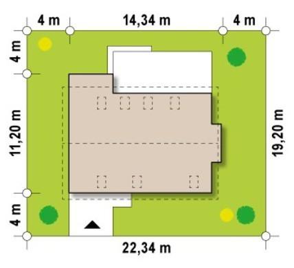 Проект коттеджа с мансардой, техническим помещением и кабинетом