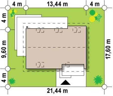 Мансардный коттедж с гаражом в традиционном стиле