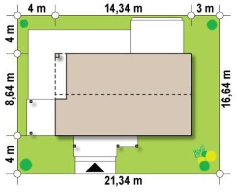 Проект малогабаритного современного одноэтажного коттеджа