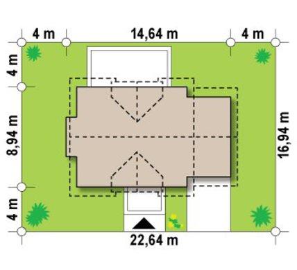 Проект современного коттеджа с 5-ю спальнями и встроенным гаражом