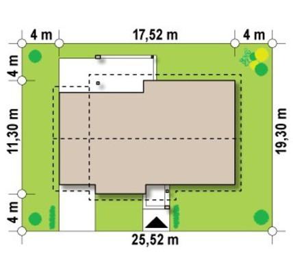 Проект одноэтажного коттеджа с 3 спальнями и удобным гаражом