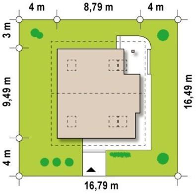 Комфортный загородный коттедж с панорамным остеклением
